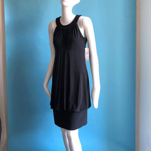 Black Drop Waist 1920s Style Cocktail Dress 6 NWT